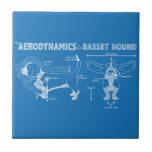 La aerodinámica de Basset Hound Azulejos Ceramicos