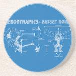 La aerodinámica de Basset Hound Posavasos Manualidades