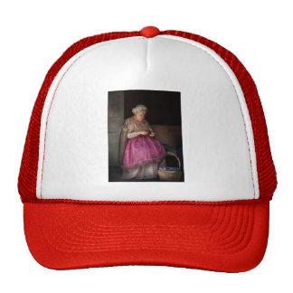 La afición - cinta - de la abuelita de costura gorras de camionero
