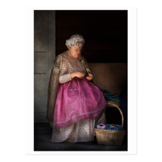 La afición - cinta - de la abuelita de costura postales