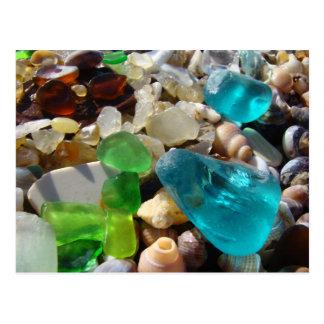 La ágata de las postales de Seaglass de la playa o