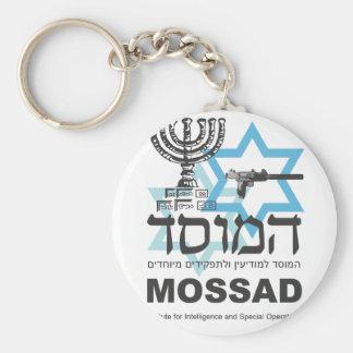 La agencia israelí de Mossad Llavero Redondo Tipo Pin