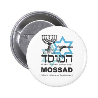 La agencia israelí de Mossad Pin Redondo De 2 Pulgadas