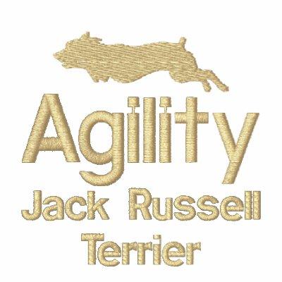 La agilidad Jack Russell Terrier bordó sudadera
