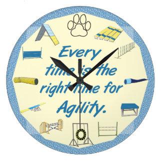 La agilidad registra cada vez reloj