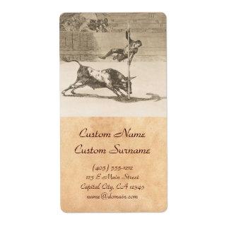 La agilidad y la audacia de Juanito Apinani Goya Etiquetas De Envío