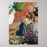 La agonía en el jardín póster
