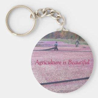 La agricultura es hermosa - estilo del arándano llavero redondo tipo pin