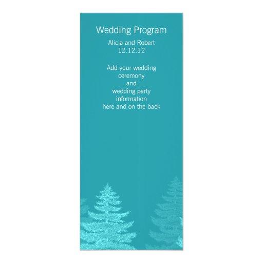 La aguamarina atavía la tarjeta de programa del invitación 10,1 x 23,5 cm