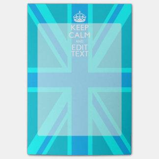 La aguamarina azul guarda la calma y su texto nota post-it®