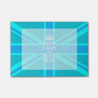 La aguamarina azul guarda la calma y su texto post-it® notas