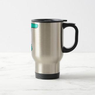 La aguamarina azul pica matemáticas caliente del s taza de café