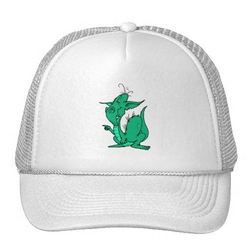La aguamarina coloreó el dragón gorro de camionero