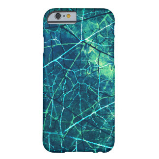 La aguamarina Crackled textura del Grunge de la Funda Para iPhone 6 Barely There
