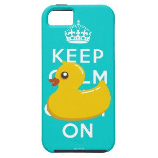 La aguamarina Duckie de goma amarillo guarda el Funda Para iPhone SE/5/5s