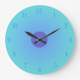 La aguamarina iluminada/color de malva > cocina ll reloj redondo grande