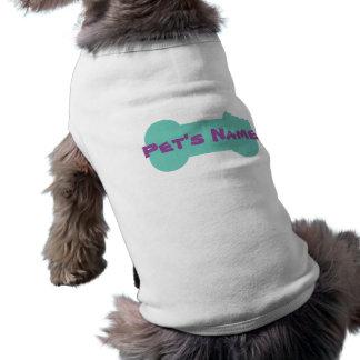 La aguamarina masticada deshuesa la camisa playera sin mangas para perro