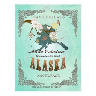 La aguamarina verde ahorra la fecha - mapa de AK Postal