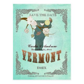La aguamarina verde ahorra la fecha - mapa del VT Postal