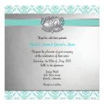 La aguamarina y el boda elegante de la plata invit