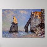 La aguja de la roca y el Porte d'Aval - C. Monet Impresiones