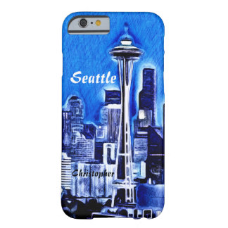 La aguja del espacio - Seattle, Washington Funda De iPhone 6 Barely There