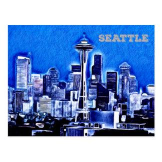La aguja del espacio - Seattle, Washington Postales