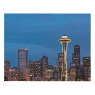 La aguja del espacio y la Seattle céntrica Cuadro