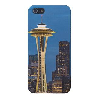 La aguja del espacio y la Seattle céntrica iPhone 5 Protector