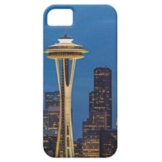 La aguja del espacio y la Seattle céntrica Funda Para iPhone 5 Barely There