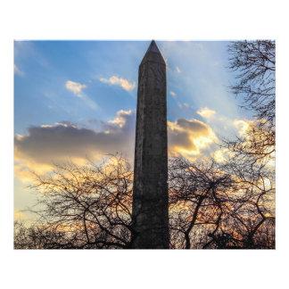 La aguja/el obelisco de Cleopatra en Central Park Arte Fotografico