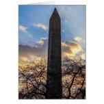 La aguja/el obelisco de Cleopatra en Central Park Tarjeta De Felicitación