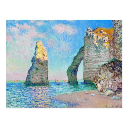 La aguja y el Porte Claude Monet d'Aval de la roca Tarjetas Postales