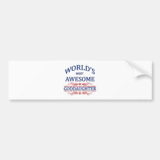 La ahijada más impresionante del mundo etiqueta de parachoque
