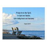 La alabanza del 68:19 del salmo esté al señor, a d tarjetas postales
