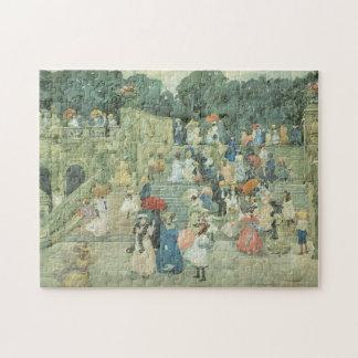 La alameda Central Park por Prendergast arte del Rompecabezas