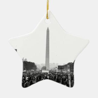 La alameda nacional en la justicia o bien adorno navideño de cerámica en forma de estrella