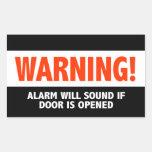 La alarma amonestadora sonará si se abre la puerta rectangular altavoces
