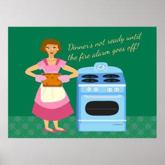La alarma de incendio significa tiempo de cena impresiones