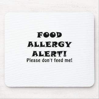 La alarma de la alergia alimentaria no me alimenta tapete de ratones