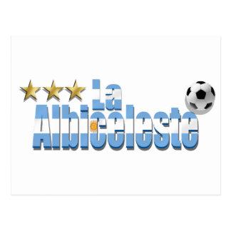 La Albiceleste Argentina Campeon World Champions Postcard