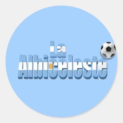 La Albiceleste soccer lovers futbol gift Argentina Classic Round Sticker