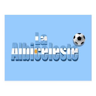 La Albiceleste soccer lovers futbol gift Argentina Postcard