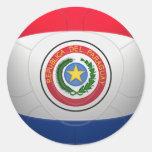 La Albirroja - fútbol de Paraguay Pegatina Redonda