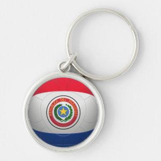 La Albirroja - Paraguay Football Keychain