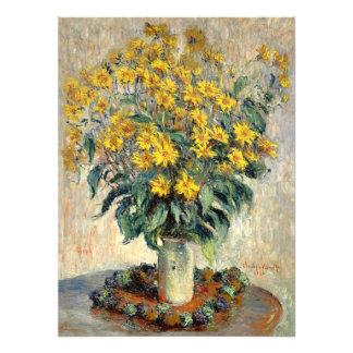 La alcachofa de Claude Monet Jerusalén florece Cojinete