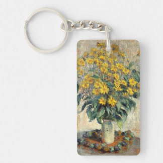 La alcachofa de Claude Monet Jerusalén florece Llavero Rectangular Acrílico A Doble Cara