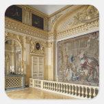 La alcoba de Louis XIV Pegatinas Cuadradas