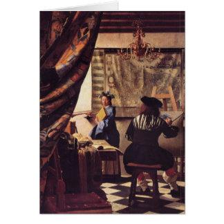 La alegoría de la pintura de Juan Vermeer Tarjeta