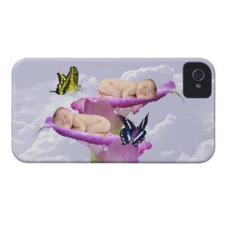 La alegría con el bebé hermana dos veces el caso d Case-Mate iPhone 4 carcasa